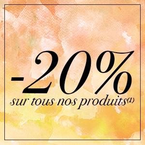 20% sur les produits